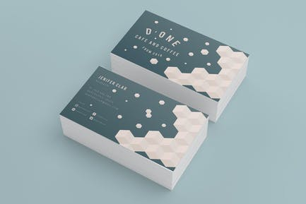 D'one Cafe  Business Card
