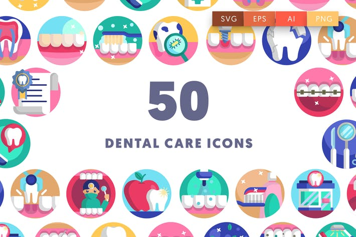 50 Dental Care Icons