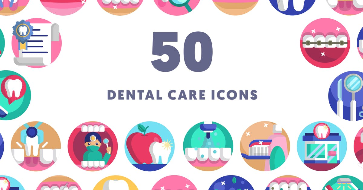 Download 50 Dental Care Icons by thedighital