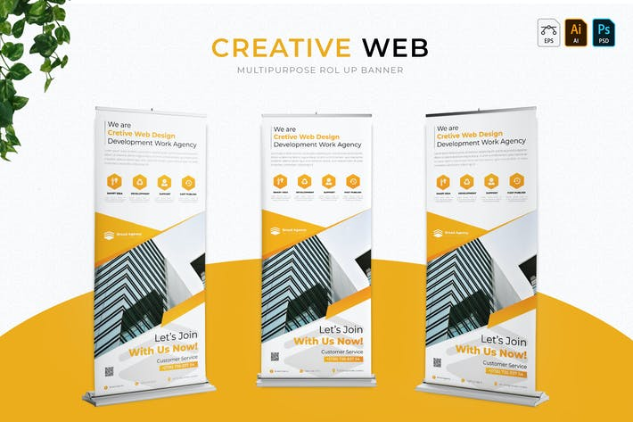 Thumbnail for Creative Web | Roll Up Banner