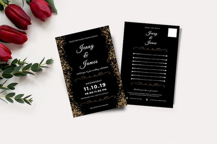 Thumbnail for Wedding Invitation & RSVP Cards