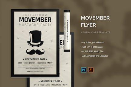Movember Mustache - Flyer