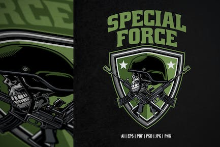 Schädel Special Force Army dDesign