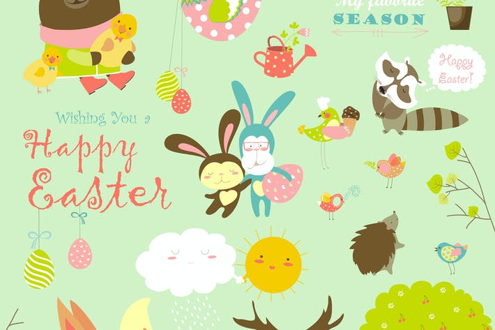 Thumbnail for Animals celebrating Easter