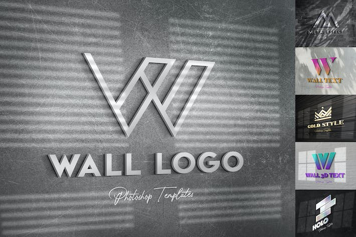Thumbnail for Wall Text or Logo Mockups