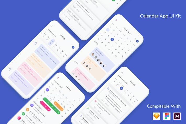 Thumbnail for Calendar App UI Kit