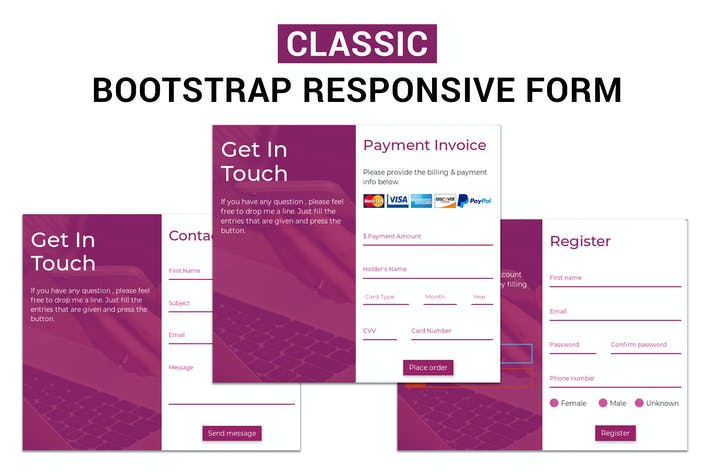 Thumbnail for Classic - Bootstrap Responsive Form