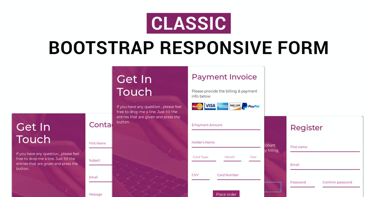 Download Classic - Bootstrap Responsive Form by makewebbetter