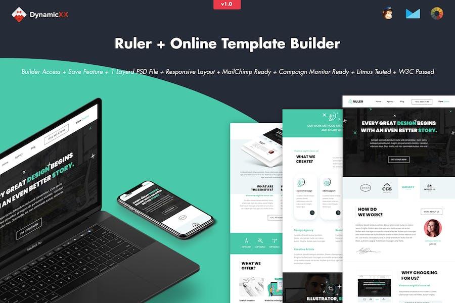 Ruler - Creative Agency Portfolio Email + Builder
