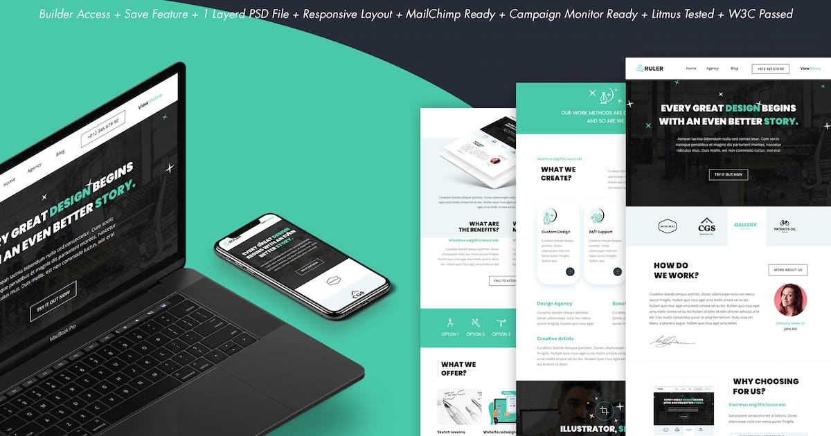 Download Ruler - Creative Agency Portfolio Email + Builder by DynamicXX