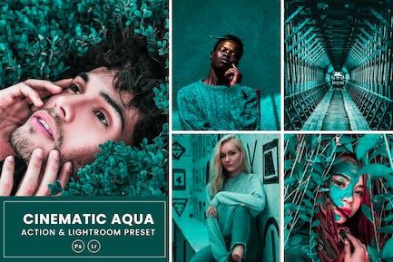 Cinematic Aqua Action & Lightrom Presets