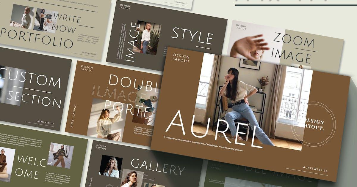 Download AUREL - Fashion Powerpoint Template by joelmaker