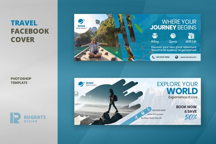 Thumbnail for Travel R2 Facebook Cover Template