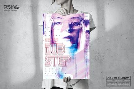 DubStep Music Passion - Big Poster Design