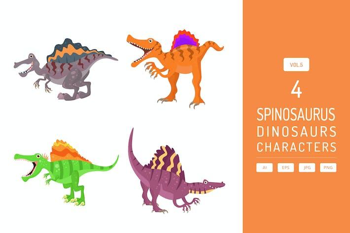 Thumbnail for Niedlicher Spinosaurus - Dinosaurier Charakter Vol.5