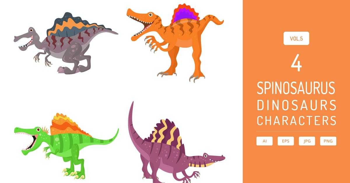 Download Cute Spinosaurus - Dinosaurs Character Vol.5 by Graphiqa