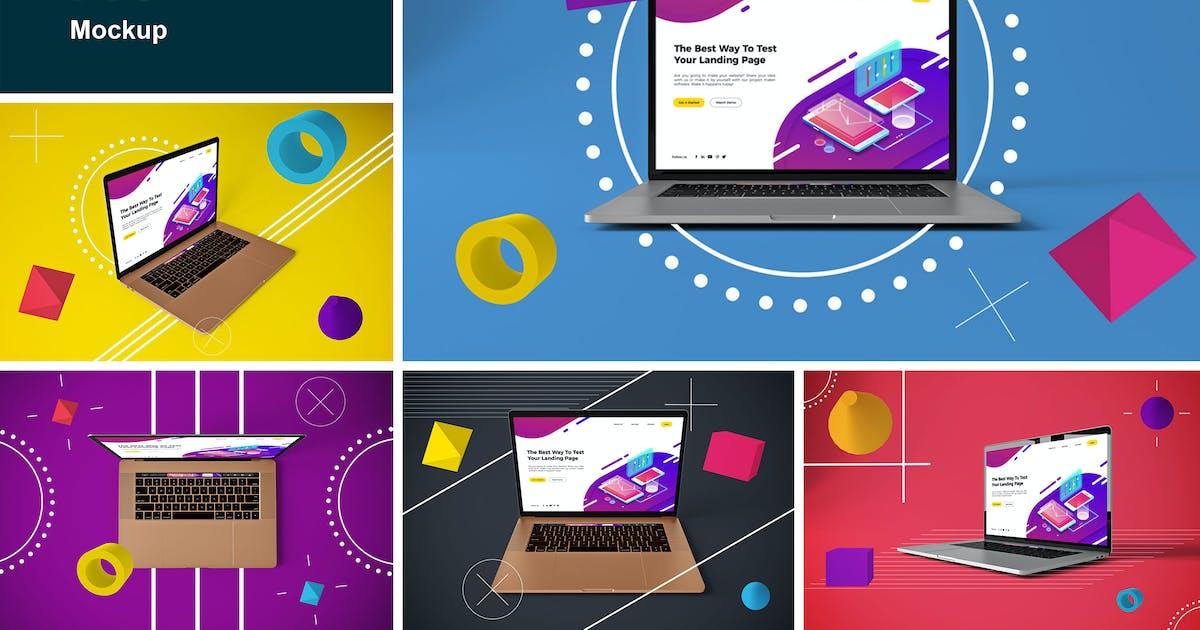 Download Abstract MacBook Pro MockUp by QalebStudio