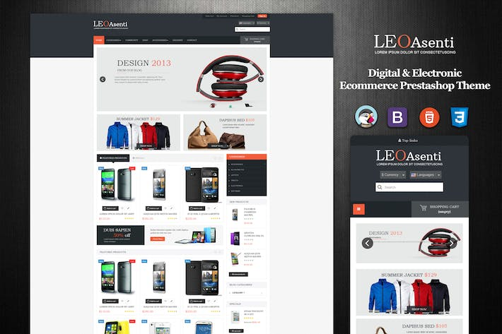 Thumbnail for Leo Asenti Prestashop Electronics Theme