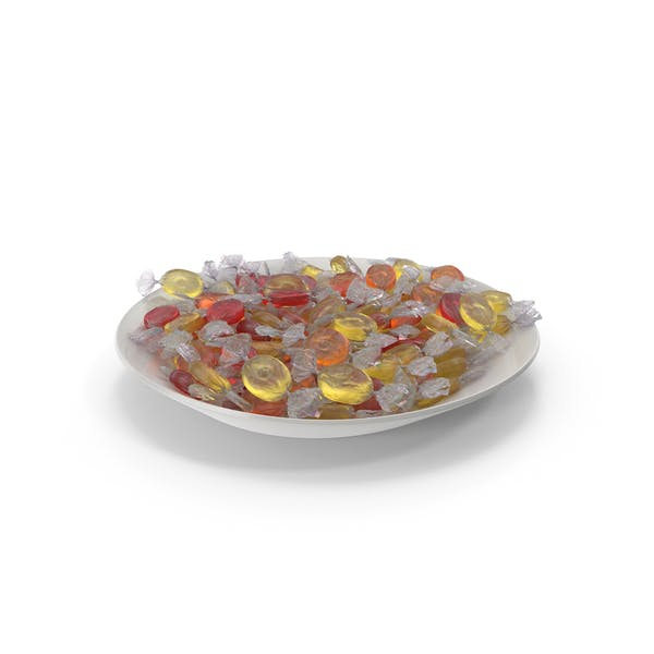 Thumbnail for Plate with Wrapped Oval Candy