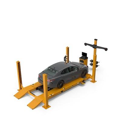 Ausrüstung für die Radausrichtung mit Auto