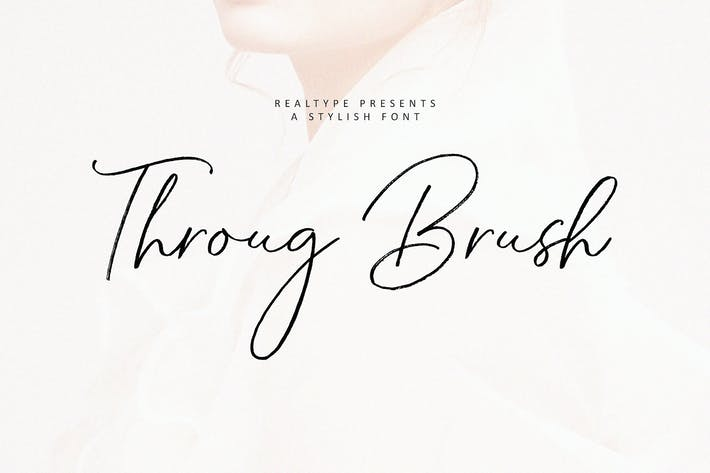 Thumbnail for Throug Brush + Webfonts