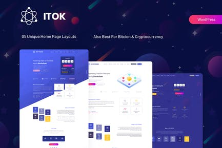 iTok - ICO und Kryptowährung WordPress Thema