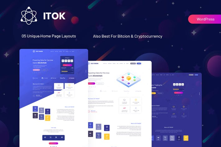 Thumbnail for ITok - ICO and Cryptocurrency WordPress Theme