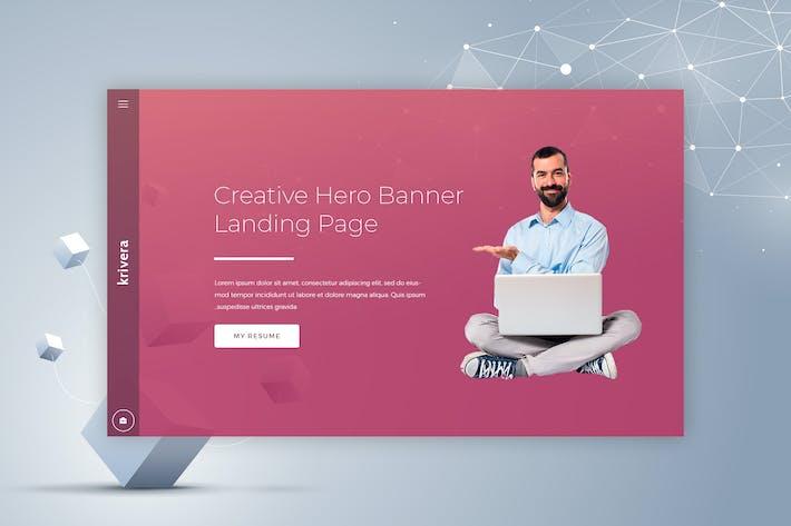 Thumbnail for Krivera - Creative Hero Banner
