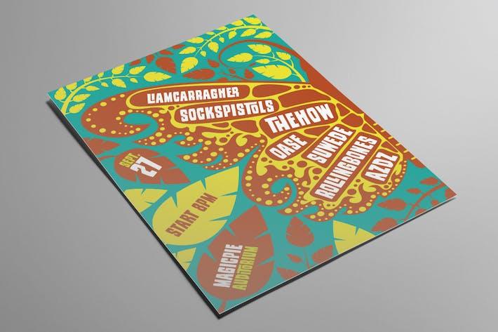 Butterfly Indie Rock Flyer