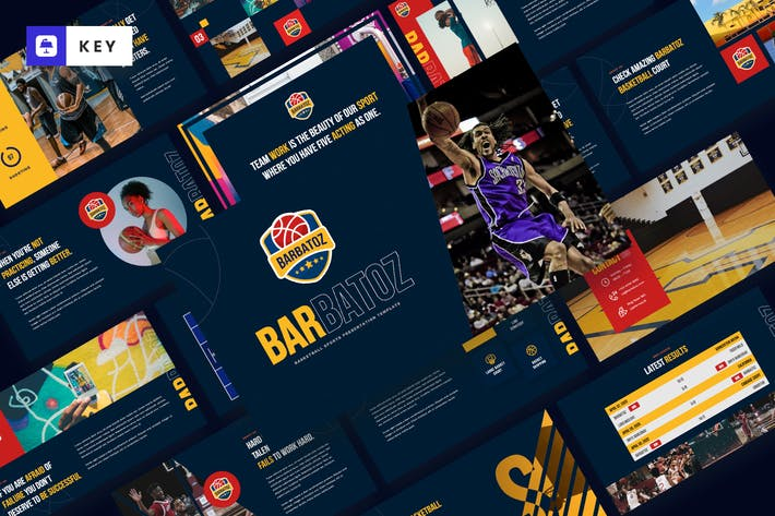 Thumbnail for Barbatoz - Basketball Sport Keynote Template