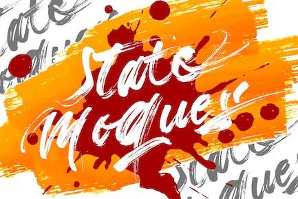 Estado Moques | Pincel Script Font