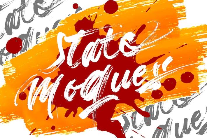 Thumbnail for State Moques | Brush Script Font