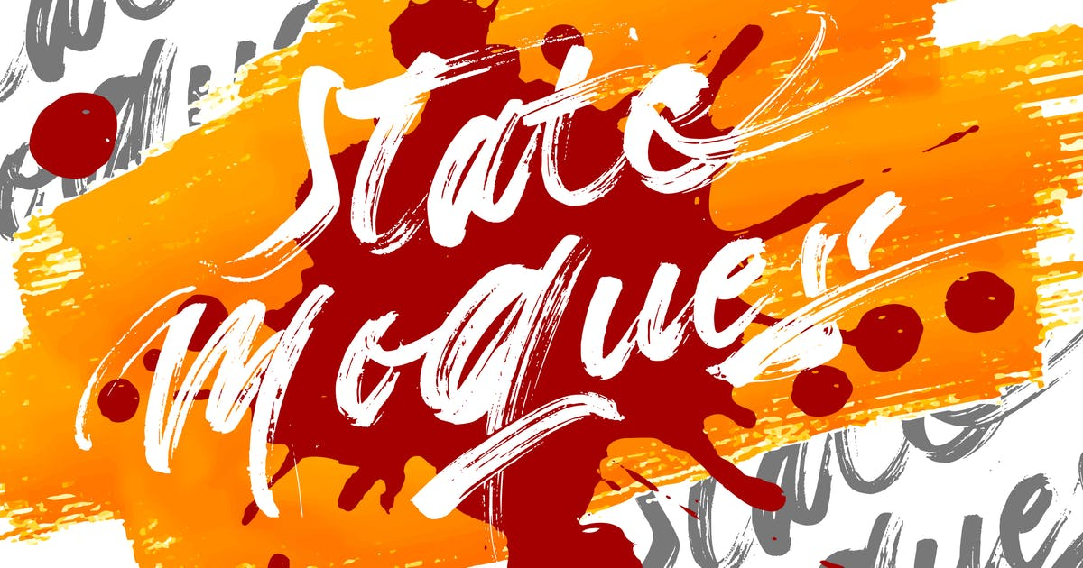 Download State Moques   Brush Script Font by Vunira