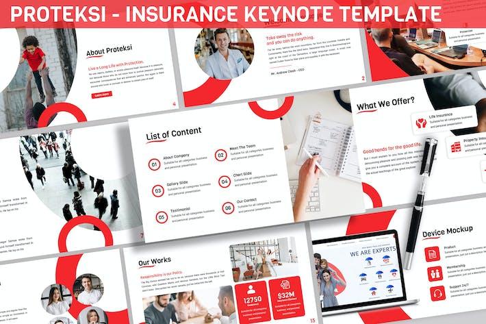 Thumbnail for Proteksi - Insurance Keynote Template