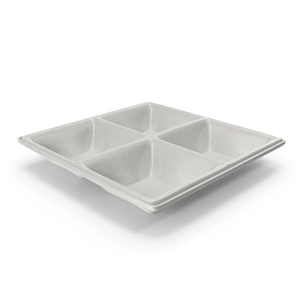 Porcelain 4 Compartment Bowl