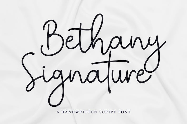 Thumbnail for Bethany Signature - Police manuscrite