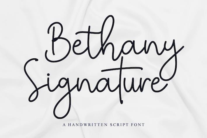 Thumbnail for Bethany Signature - Fuente de escritura manuscrita