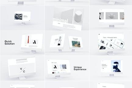 Weiß iMac Mockup