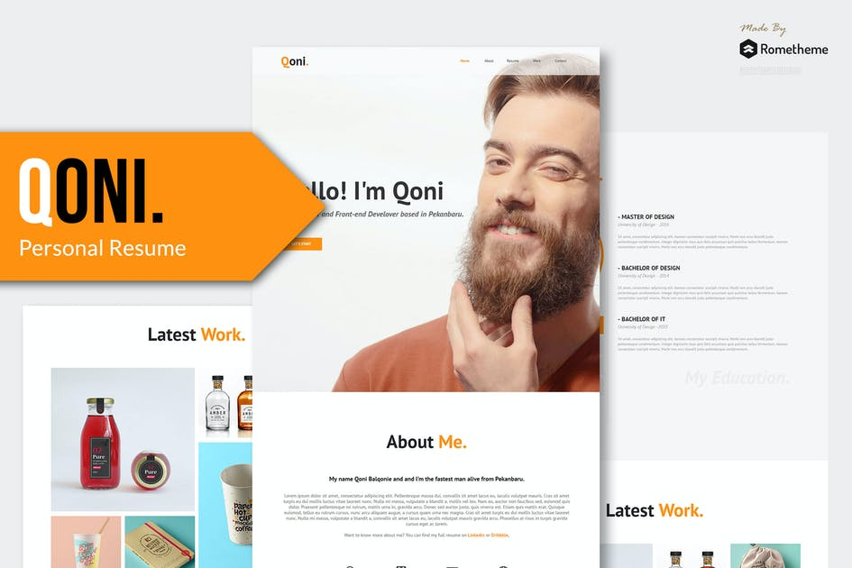 Download QONI - Personal Muse Template by Rometheme