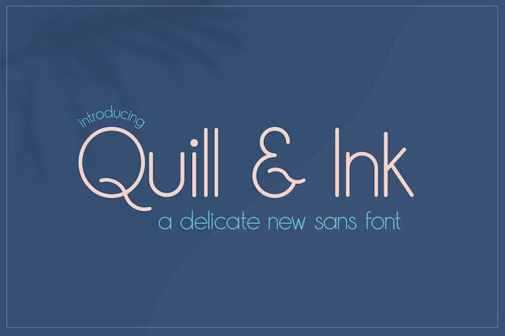 Thumbnail for Quill & Ink Sans Font