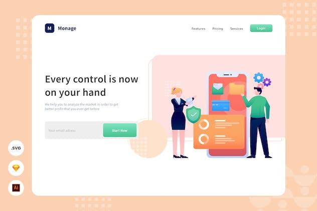 Main Control - Website Header - Illustration