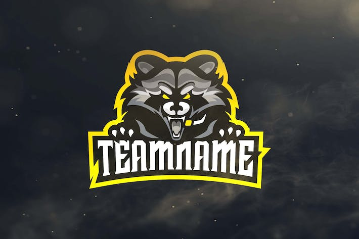 Racoon Sport and Esports Logos by ovozdigital on Envato Elements