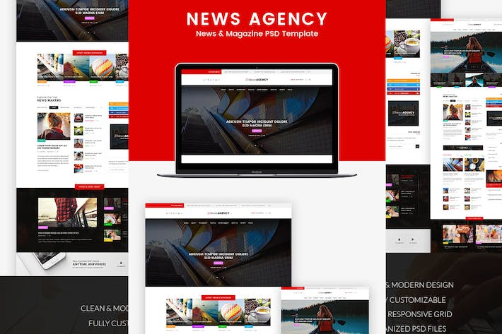 Thumbnail for News Agency - News Magazine Newspaper HTML