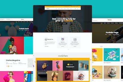 Website Design for Agency, Portfolio PSD Template