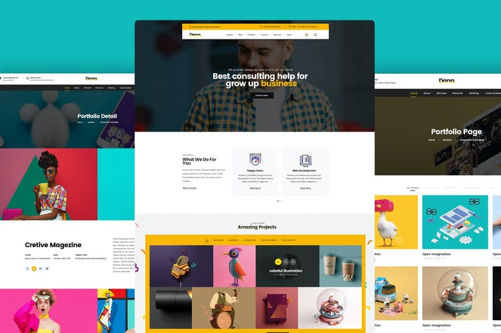 Thumbnail for Website Design for Agency, Portfolio PSD Template