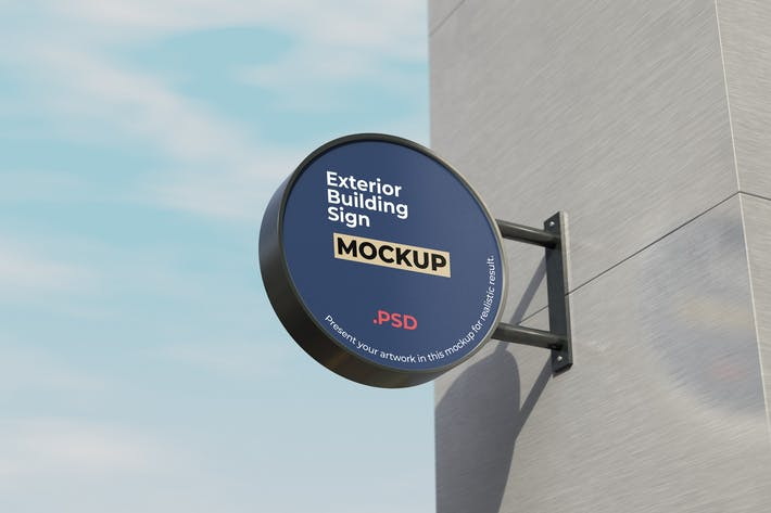 Thumbnail for Exterior Building Sign Mockup
