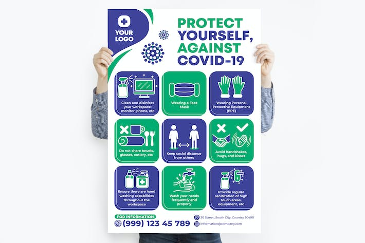 Protect Yourself, Against Covid-19 Poster