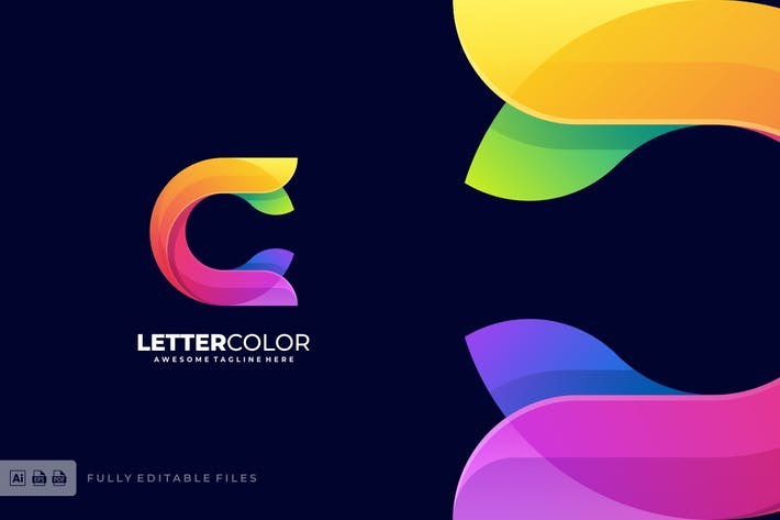Letter C Colorful Logo Template