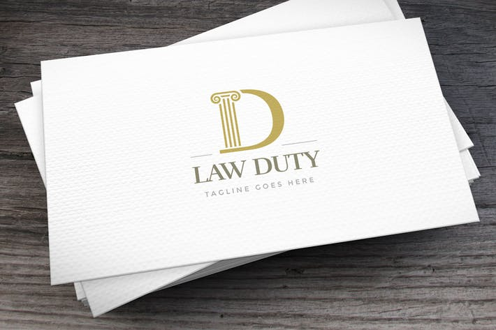 Cover Image For Law Duty Letter D Logo Template