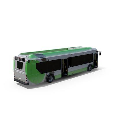 Puertas del autobús de pasajeros abiertas